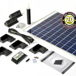 120w rigid frame solar panel rooftop kit